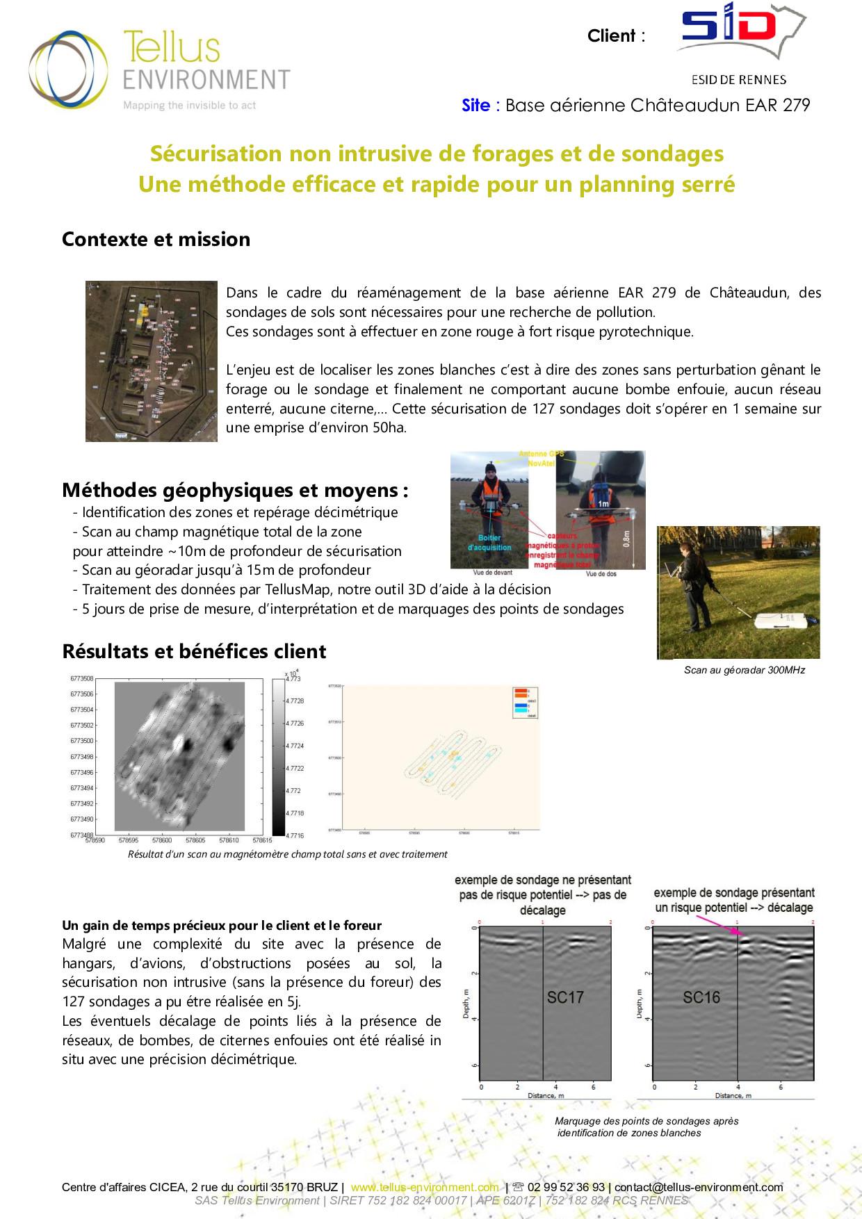 1 Tellus Environment Sécurisation de forages et sondages Radar p001 - Tellus Environment