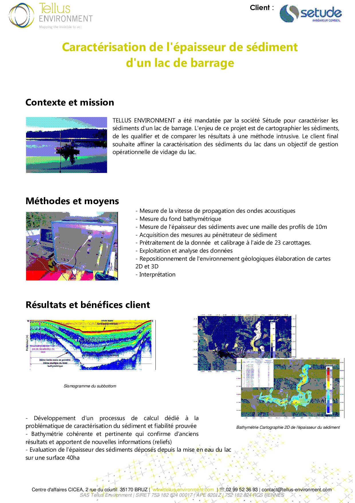 12 Tellus Environment Caractérisation de sédiments Subbottom  p001 - Tellus Environment