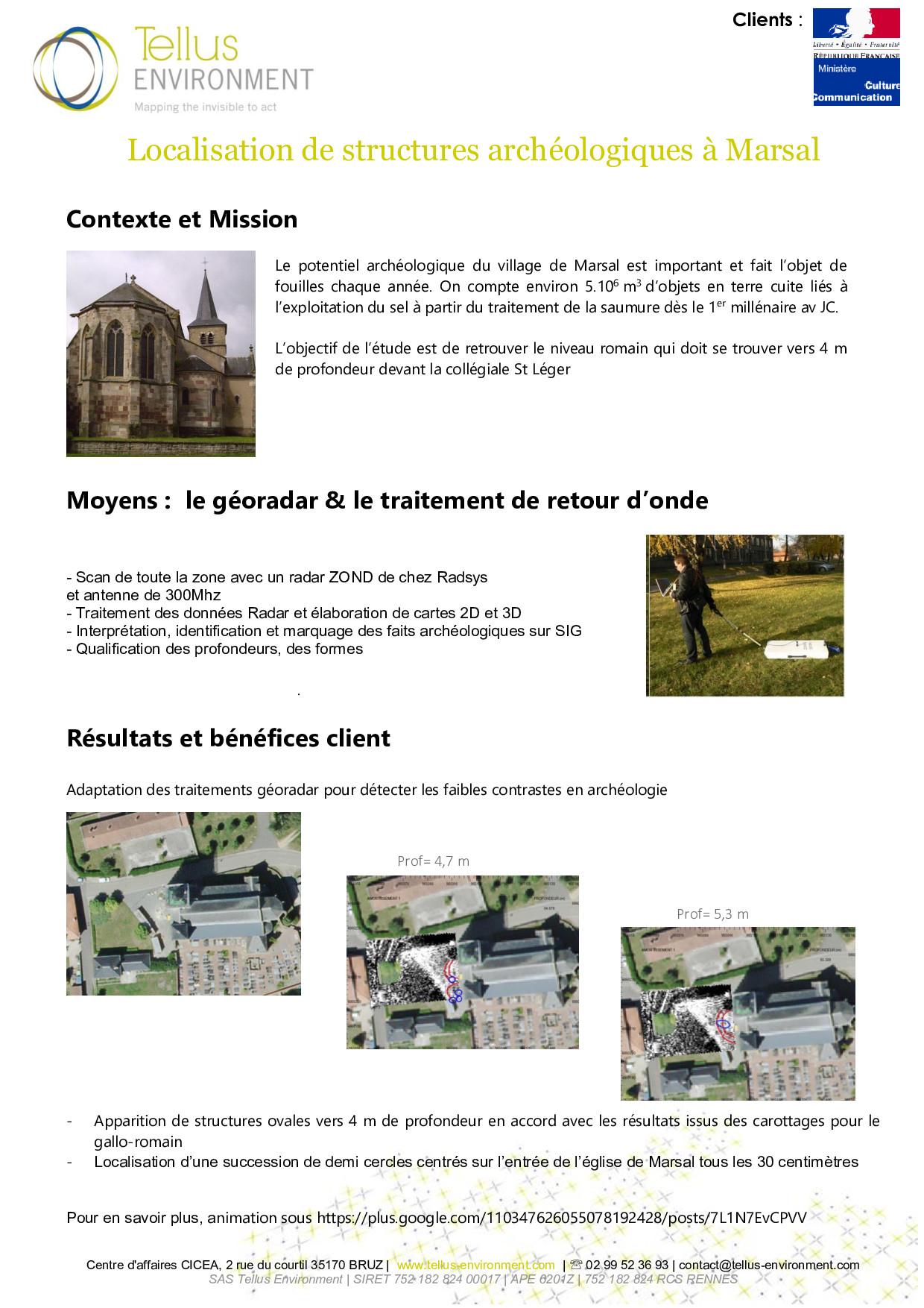 4 Tellus Environment Localisation de structures archélogiques Radar  p001 - Tellus Environment