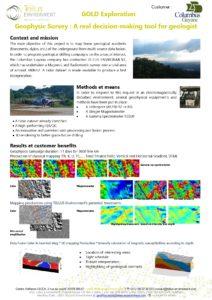 Etude de cas, Tellus Environment, Geophysique et Lidar aéroporté, GOLD exploration