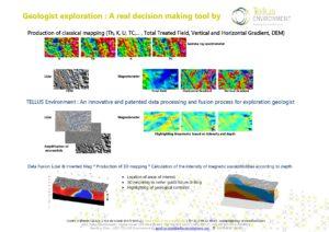 Etudes de cas, Tellus Environment, traitement modélisation et inversion, Geologist exploration