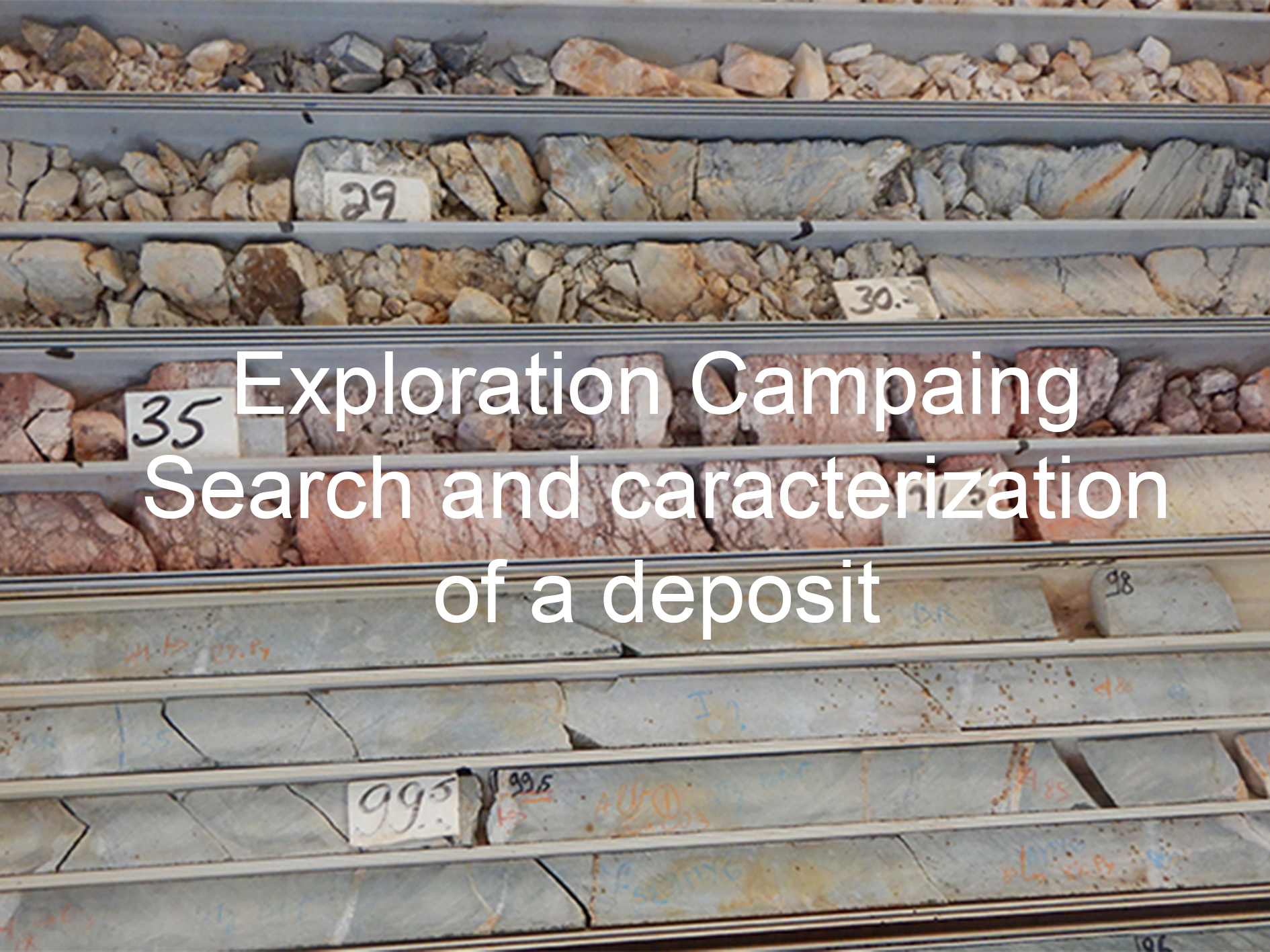 Exploration Campaing Search and caracterization of a deposit, Tellus environment, Energy and Natural Resources